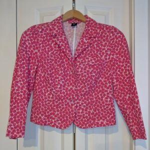 Gap Pink Dotted Blazer
